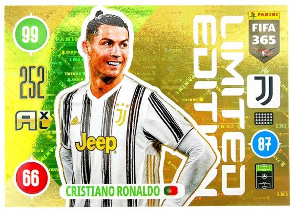Panini FIFA 365 Adrenalyn XL 2021 Kollektion – LE-Card Cristiano Ronaldo Vorne
