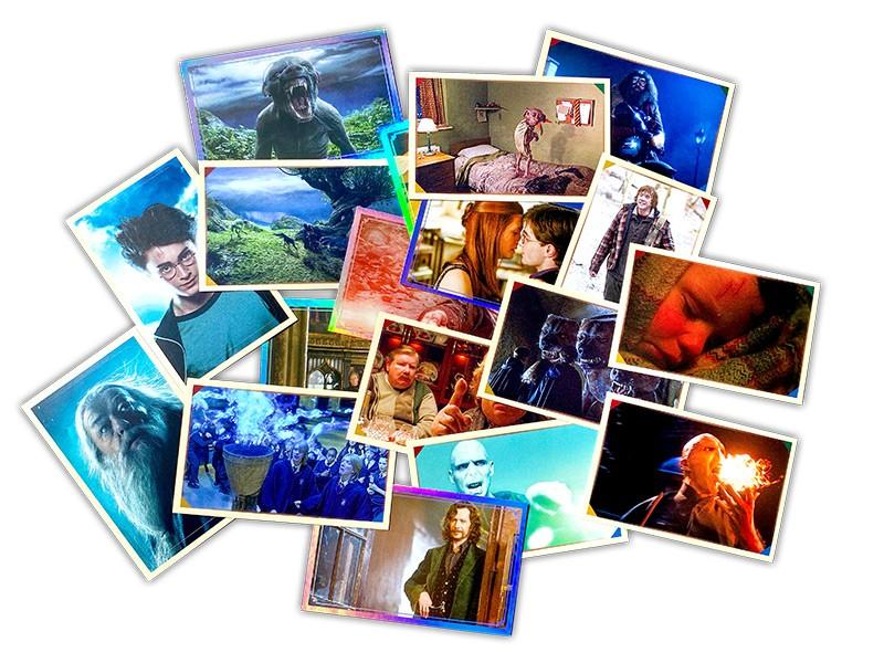 Harry Potter Sticker und Cards Impression Beispiel Sticker
