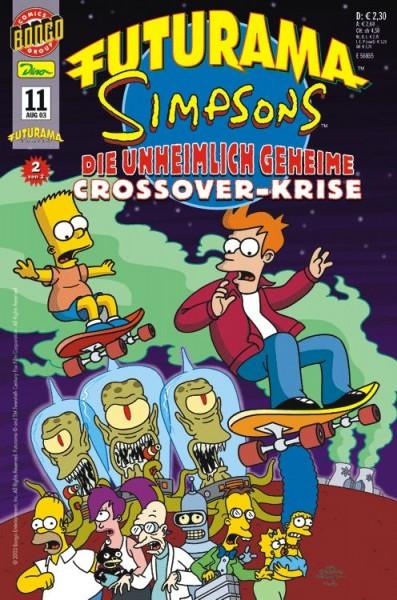 Futurama Comics 11: Futurama/Simpsons 2: Die unheimlich geheime Crossover-Krise