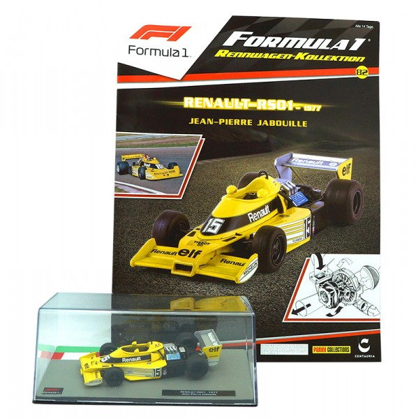 Formula 1 Rennwagen Kollektion 82: Jean-Pierre Jabouille (Renault RS01)