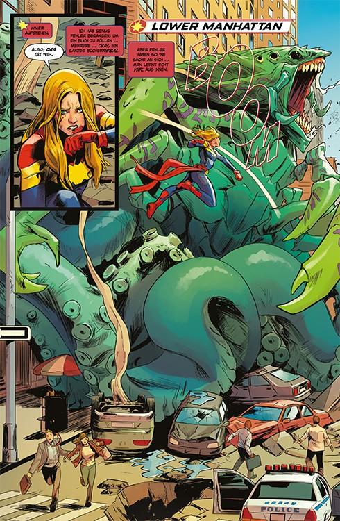 Captain Marvel 1 Blick in den Comic Vorschauseite