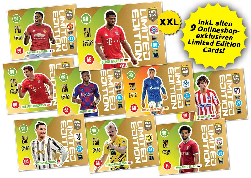 Panini FIFA 365 Adrenalyn XL 2021 - Onlineshop Limited Edition Cards