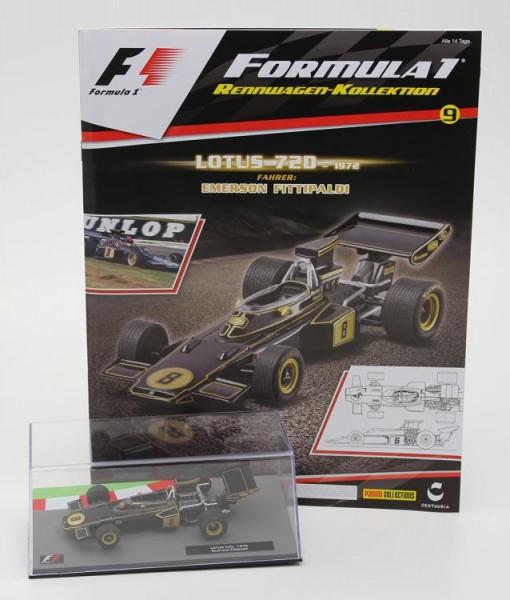 Formula 1 Rennwagen-Kollektion 9: Emerson Fittipaldi (Lotus 72D)