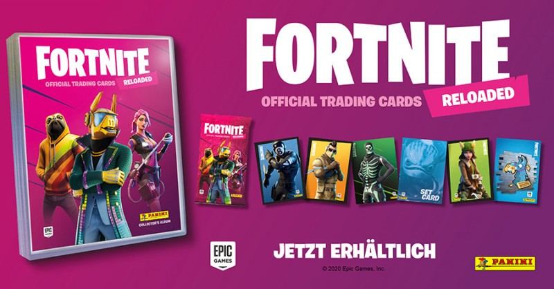 Fortnite Reloaded – Official Trading Cards – jetzt im Paninishop erhältlich