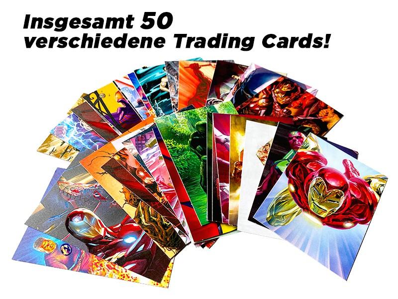 Marvel 80 Jahre Sammelkollektion – Insgesamt 50 verschiedene Trading Cards