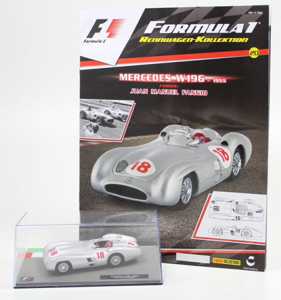 Formula 1 Rennwagen-Kollektion 20: Juan Manuel Fangio (Mercedes W196S)