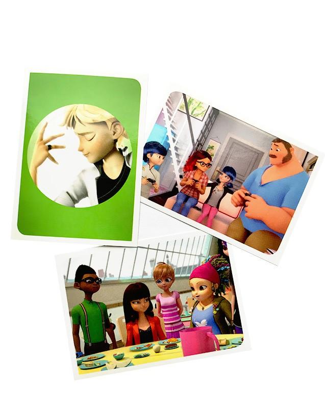 Miraculous Sticker und Trading Cards Sticker Beispiel