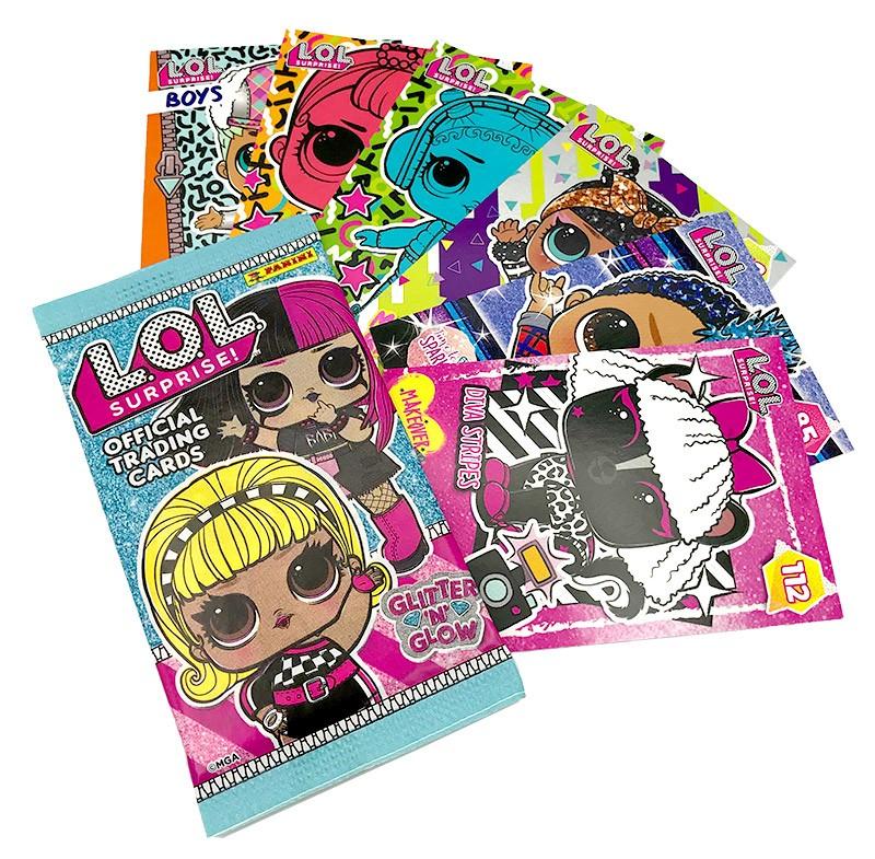 L.O.L. Surprise! Glitter 'n' Glow - Trading Cards Beispiel Flowpack mit Inhalt
