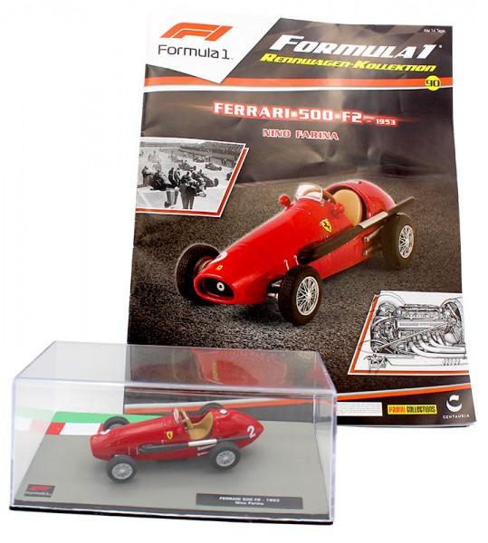 Formula 1 Rennwagen-Kollektion 90: Nino Farina (Ferrari 500 F2) Magazin Cover