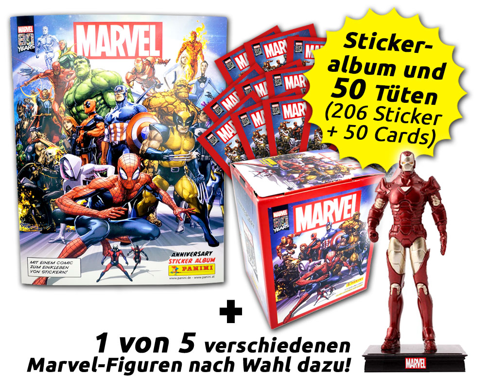 80 Jahre Marvel Sammelkollektion - Ultimate Collector's Bundle mit Figur