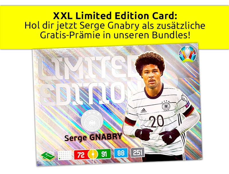 XXL Limited Edition Card Serge Gnabry - Angebot Zusatz-Prämie