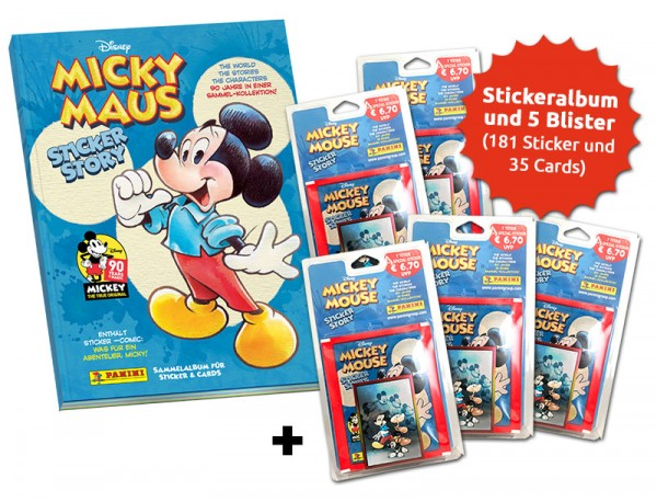 90 Jahre Micky Maus Sammelkollektion - Blister-Bundle Umfang