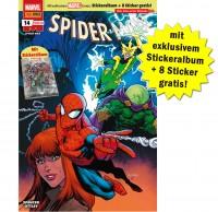 Spider-Man Heft 14 mit exklusivem Stickeralbum zu den Marvelmeilensteinen und 8 Stickern gratis