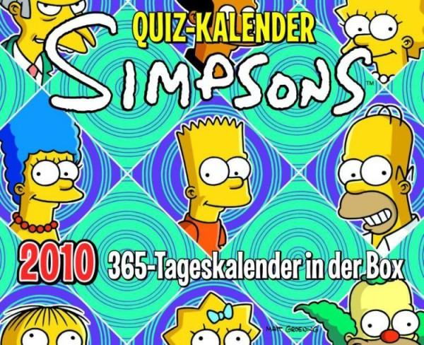 Simpsons - Quiz Kalender (2010) 365-Tageskalender in der Box