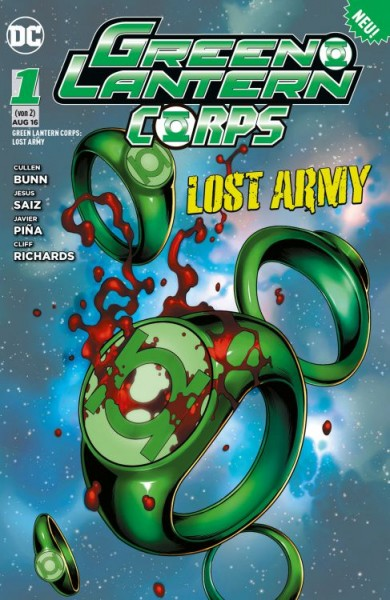 Green Lantern Corps: Lost Army 1
