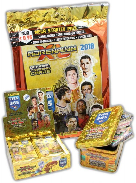 Panini FIFA 365 2018 Adrenalyn XL Trading Cards - Tin Classic-Bundle