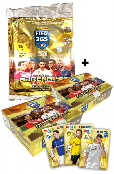 Panini FIFA 365 Adrenalyn XL 2020 Kollektion – Mega Bundle