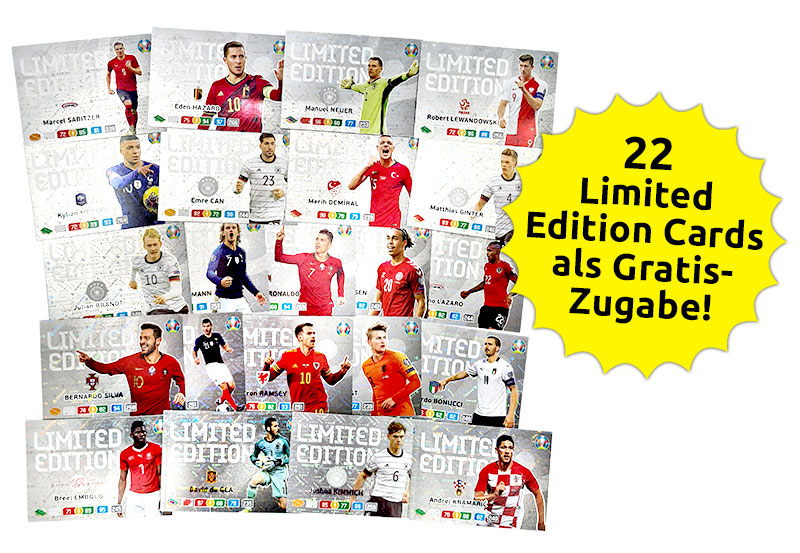 EURO 2020 Adrenalyn XL Preview 22 Limited Edition Cards