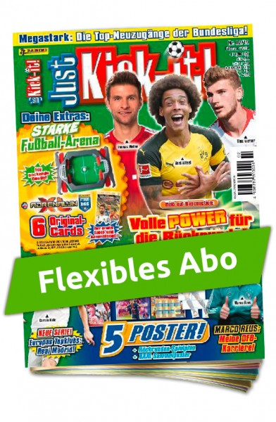 Flexibles Abo - Just Kick-It! Magazin