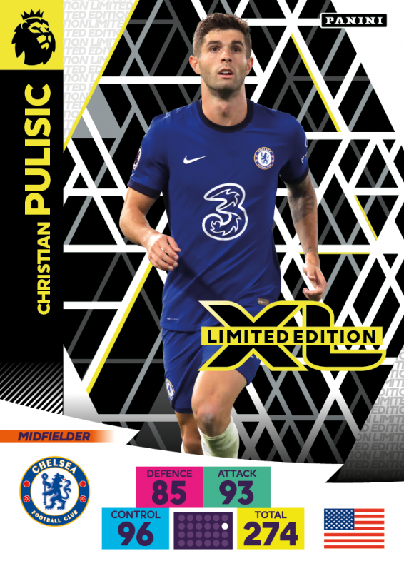 Panini Premier League Adrenalyn XL 2020/21 - Limited Edition Card - Christian Pulisic