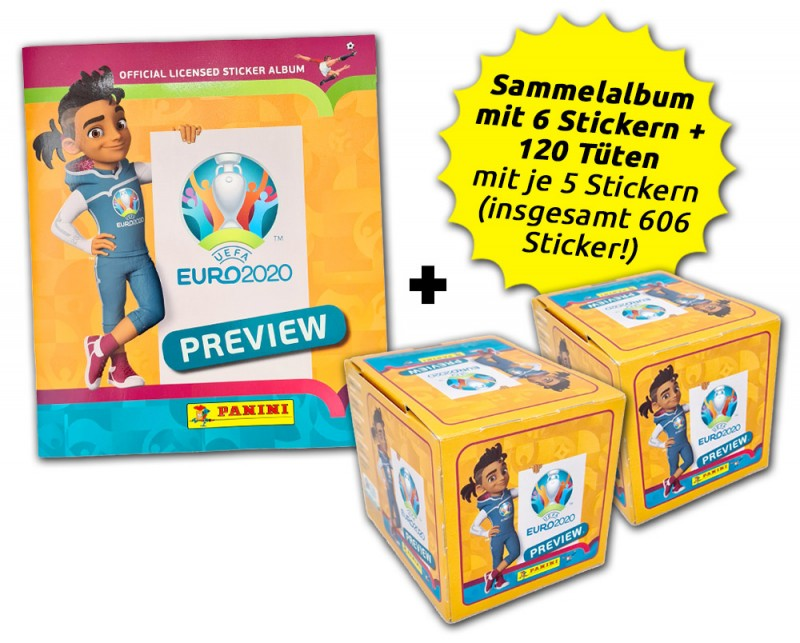 UEFA EURO 2020 - Official Sticker Preview Collection - International Collector's Bundle