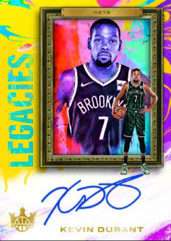NBA Court Kings 2019/20 Trading Cards - Autogramm-Card Kevin Durant