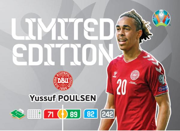 UEFA Euro 2020 Adrenalyn XL Limited Edition Card Yussuf Poulsen