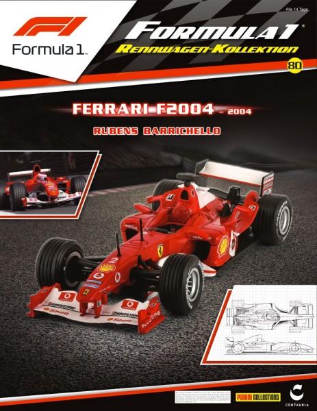 Formula 1 Rennwagen-Kollektion 80: Rubens Barrichello (Ferrari F2004)