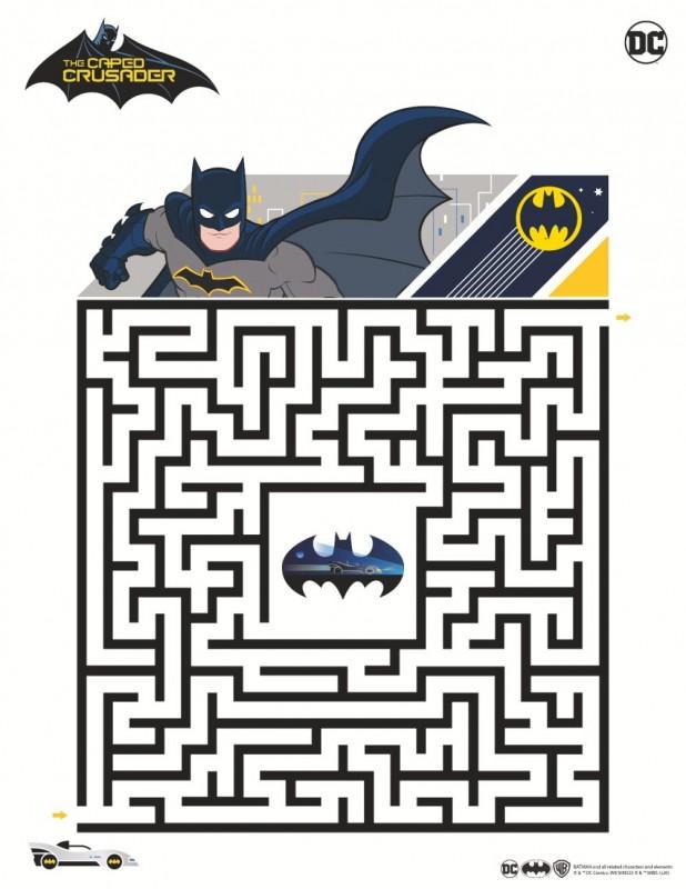 Bastelvorlage DC Batman verschiedene Rätsel und Quiz
