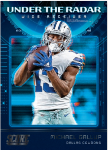 NFL Score 2020 Trading Cards - Michael Gallup