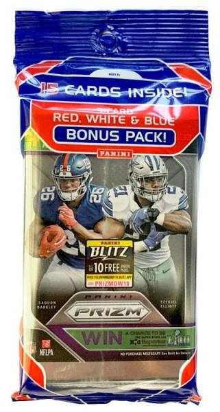 NFL 2018 Panini PRIZM Trading Cards - Bonuspack