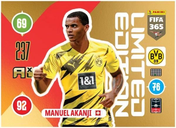 Panini FIFA 365 Adrenalyn XL 2021 Kollektion – LE-Card Manuel Akanji Vorne