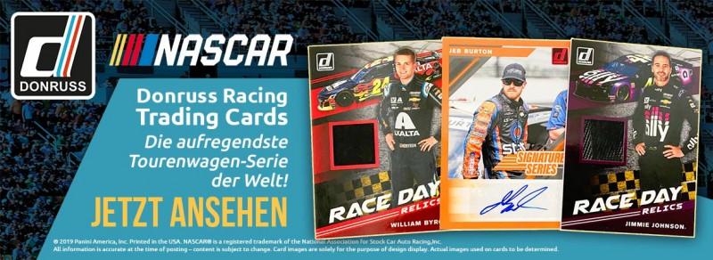 NASCAR 2020 - Donruss Racing Trading Cards - Die aufregendste Tourenwagen-Serie der Welt!