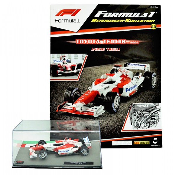 Formula 1 Rennwagen-Kollektion 88: Jarno Trulli (Toyota TF104B)