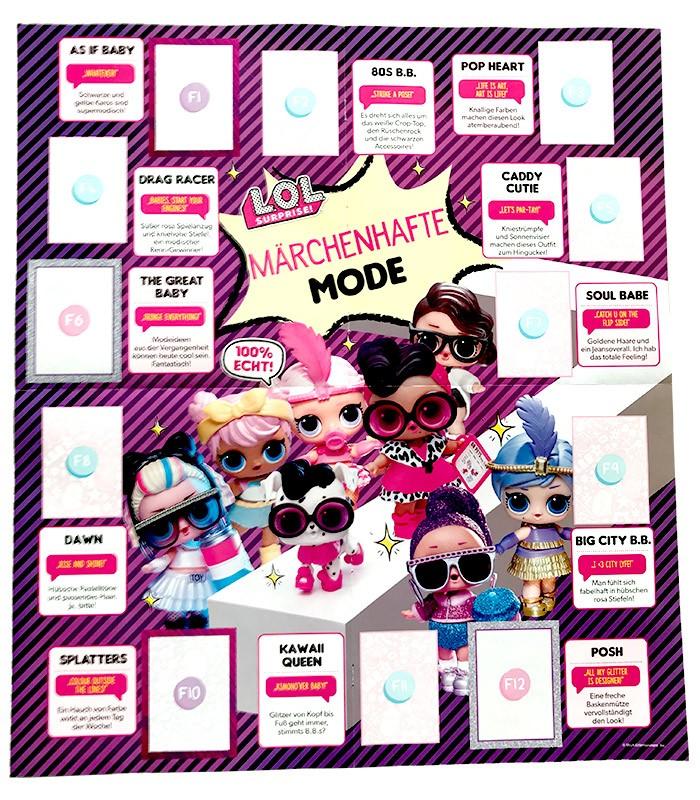 L.O.L. Surprise! Fashion Fun Poster zum Heraustrennen Vorderseite