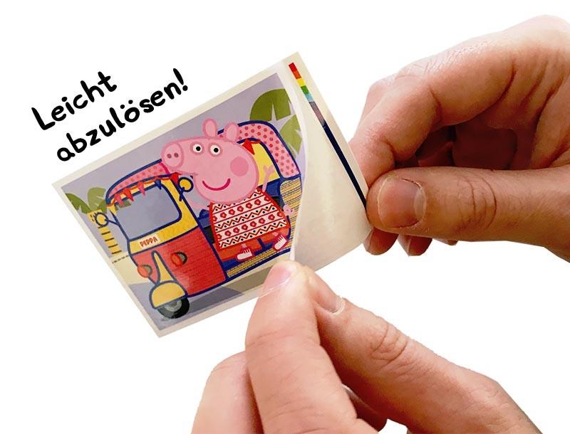 """Peppa Pig """"Alles, was ich mag"""" leicht ablösbare Sticker Step 1"""