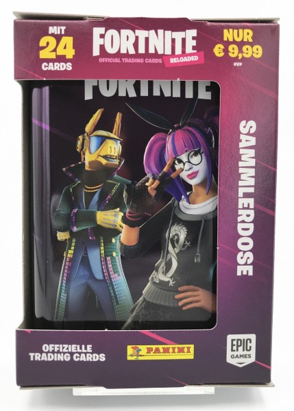 Fortnite Reloaded Trading Cards - Pocket Tin Box mit 3 Packs