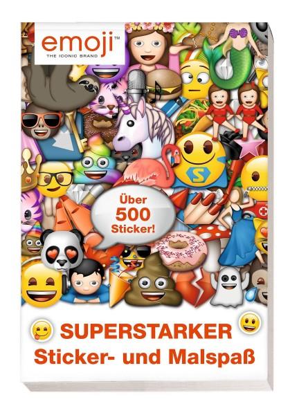 Emoji - Superstarker Sticker- und Malspaß