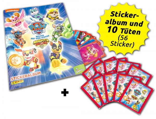 Paw Patrol - Mighty Pups Sticker - Schnupperbundle
