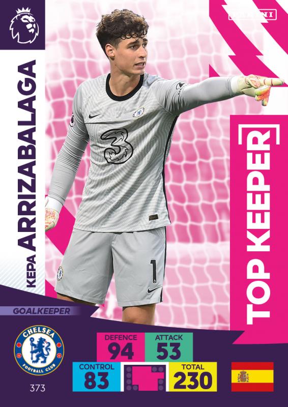Panini Premier League Adrenalyn XL 2020/21 - Top Keeper - Kepa Arrizabalaga