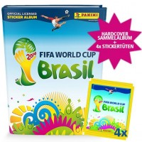 FIFA World Cup Brasilien 2014 - Sticker-Album mit 4 Stickertüten