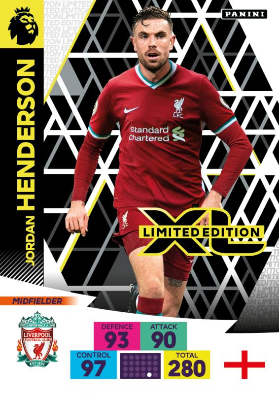 Panini Premier League Adrenalyn XL 2020/21 - Limited Edition Card - Jordan Henderson