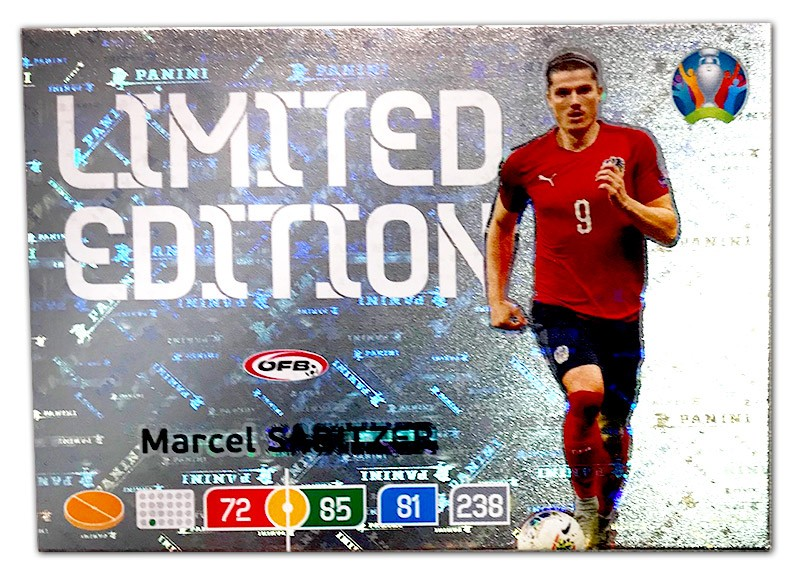 Abbildung der Euro 2020 Limited Edition Card von Marcel Sabitzer