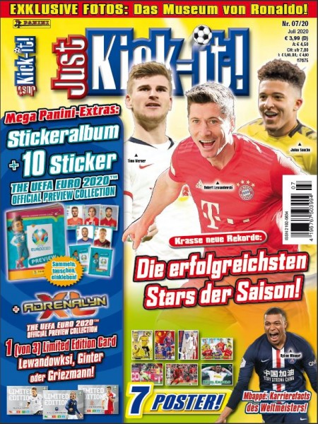 Just-Kick-It - Fußballmagazin für Kids - 07/20 - Cover