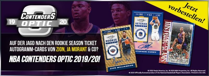 NBA Contenders Optic 2019-20 - Auf der Jagd nach den Rookie Season Ticket Autogramm-Cards von Zion, Ja Morant & Co!