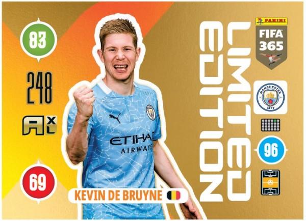 Panini FIFA 365 Adrenalyn XL 2021 Kollektion – LE-Card Kevin de Bruyne Vorne