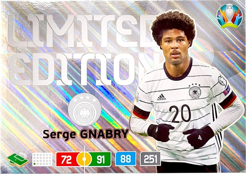 UEFA EURO 2020 Adrenalyn XL - Official Preview Collection - XXL Limited Edition Card Serge Gnabry