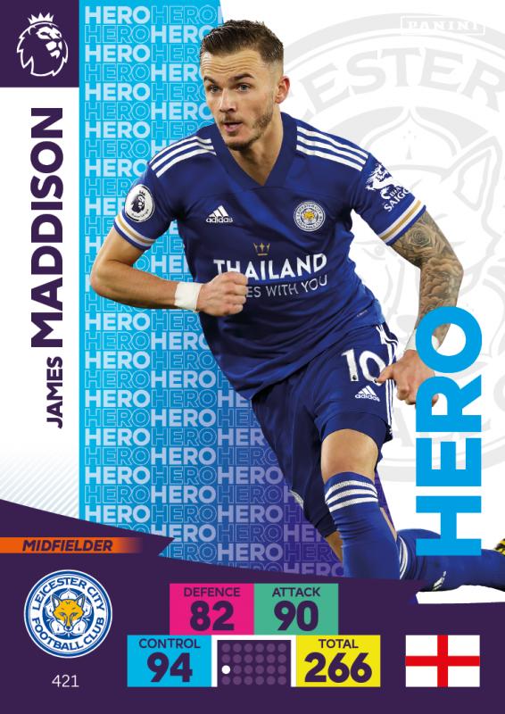 Panini Premier League Adrenalyn XL 202021 - Hero - James Maddison