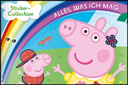 Neu im Paninishop – Peppa Pig: Alles, was ich mag Stickerkollektion