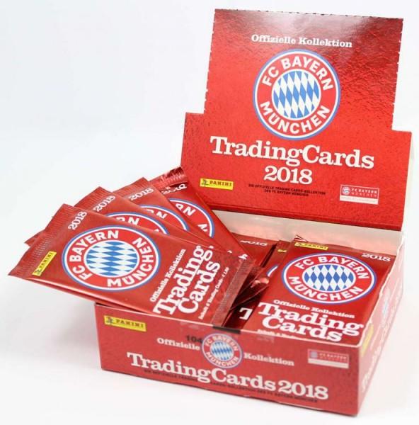 FC Bayern München 2018 - Trading Cards Kollektion - Box mit 24 Tüten